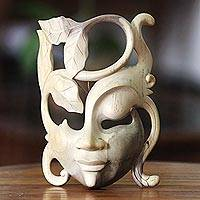 Wood mask, 'Daughter of Nature' - Modern Wood Mask