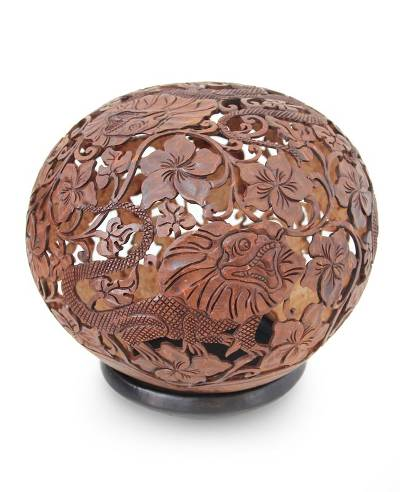 Indonesian Coconut Shell Sculpture
