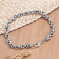 Sterling silver chain bracelet, 'Life Source' - Sterling Silver Chain Bracelet