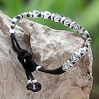 Sterling silver wristband bracelet,