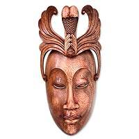 Wood mask, 'Condong Dancer' - Wood mask