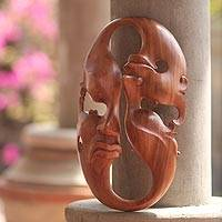 Wood mask, 'Emotional Duality'