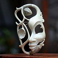 Wood mask, 'Surreal Harmony' - Wood mask