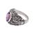 Men's amethyst ring, 'Beloved Barong' - Men's Amethyst and Sterling Silver Ring (image 2e) thumbail