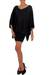 Jersey tunic, 'Midnight Butterfly' - Women's Jersey Knit Tunic Top (image 2b) thumbail