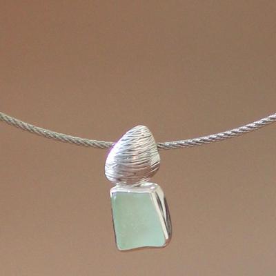 Sterling silver choker, 'Sea Gift' - Sterling silver choker