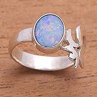 Opal cocktail ring, 'Hindu Meditation'