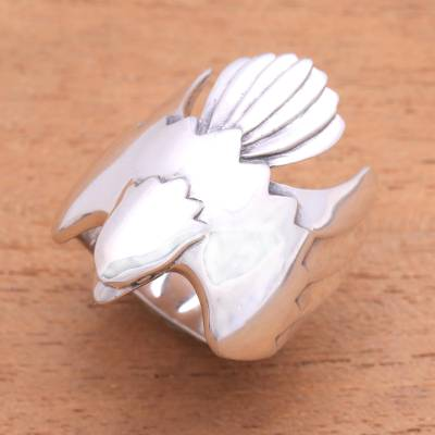 Men's sterling silver ring, 'Eagle Power' - Men's Sterling Silver Ring from Indonesia