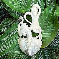 Wood mask, 'Enigma'