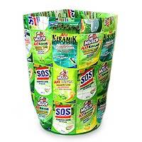 Recycled wrapper laundry basket, 'Clean Green' - Recycled wrapper laundry basket