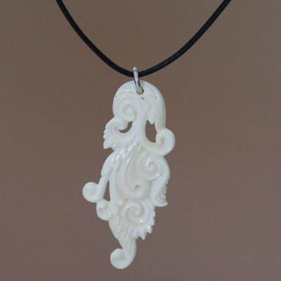 Pendant necklace, 'Leaf of Faith'