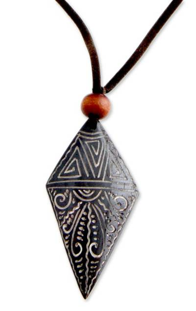 Handmade Bone Pendant Necklace