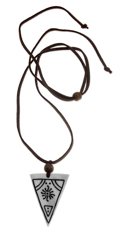 Handcrafted Bone Pendant Necklace