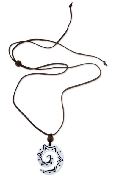 Unique Cow Bone Pendant Necklace