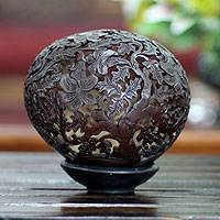 Coconut shell sculpture, 'Trees of Life'
