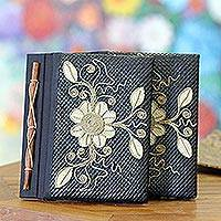 Pandanus journals, 'Floral Pride' (set of 2) - Pandanus journals (Set of 2)