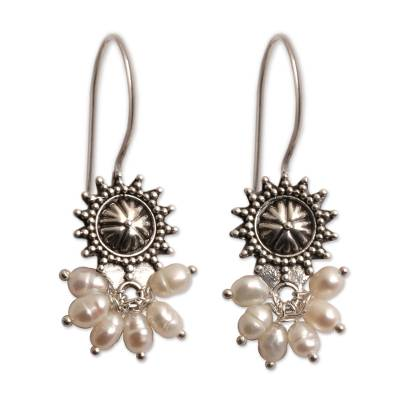 Artisan Crafted Sterling Silver and Pearl Earrings