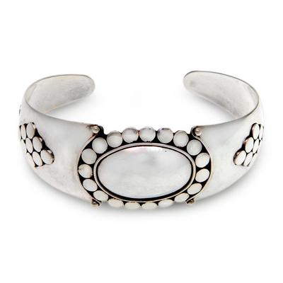 Sterling silver cuff bracelet, 'Dreaming of Bali' - Sterling Silver Cuff Bracelet