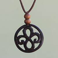 Featured review for Coconut shell pendant necklace, Eternal Fern
