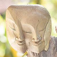 Wood mask, 'Love's Power' - Wood mask