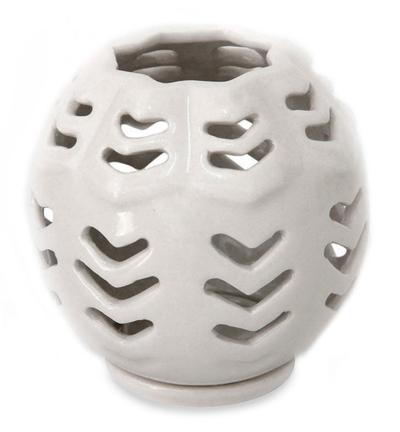 Unicef Market Ceramic Candleholder Origami Bowl