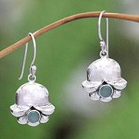 Emerald earrings, 'May's Lily of the Valley'