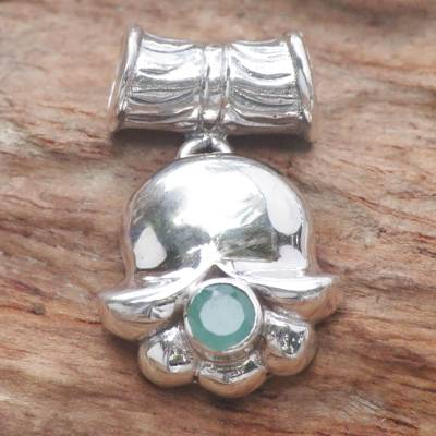 Emerald pendant, 'May's Lily of the Valley' - Hand Crafted Sterling Silver and Emerald Pendant