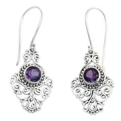 Artisan Crafted Sterling Silver and Amethyst Earrings