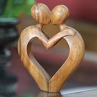 Wood sculpture, 'Sweet Love'