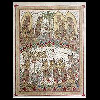 'Journey Toward Divine Tranquility' - Indonesian Folk Art Painting