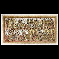 'Bima Swarga and the Underworld' - Mahabharata Traditional Hinduism Painting