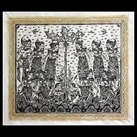 'God's Song' - Mahabharata Traditional Folk Art Painting