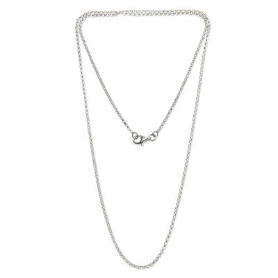Sterling silver chain necklace, 'Chain of Celebration' - Sterling Silver Chain Necklace