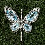 Sterling Silver and Blue Topaz Pendant from Indonesia, 'Butterfly of Hope'