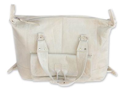 Leather travel bag, 'Java Rush' - Leather travel bag