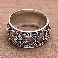 Featured review for Sterling silver band ring, When Hearts Meet