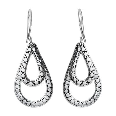 Sterling silver dangle earrings, 'Raindrop Tears' - Sterling Silver Dangle Earrings