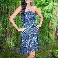 Batik sundress, 'Balinese Reef' - Batik sundress
