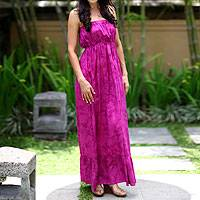 Batik sundress, 'Vibrant Ubud' - Batik sundress