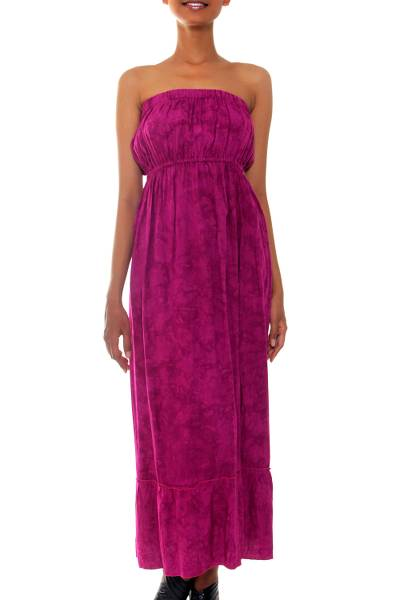 Batik sundress, 'Vibrant Ubud' - Batik sundress