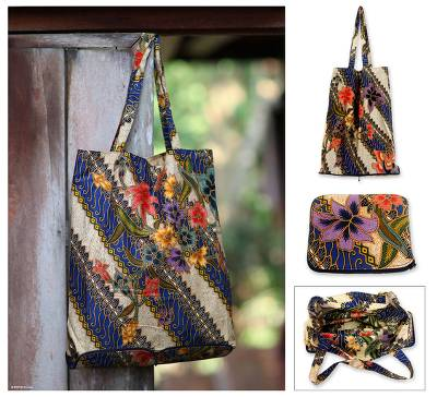 db5fd96458 Batik Cotton Foldable Shopping Tote Bag - Jogjakarta Legacy