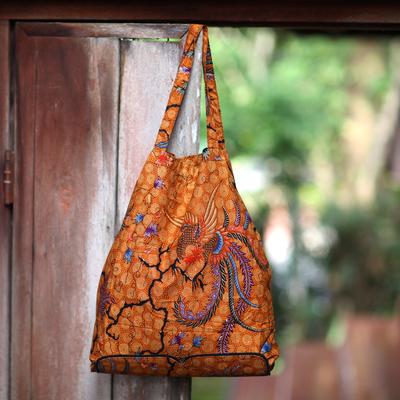 a7d9fdb350 Hand Crafted Batik Cotton Foldable Shopping Tote Bag - Madura Legacy ...