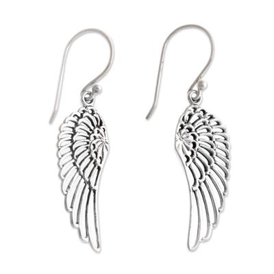 Sterling silver dangle earrings, 'Angelic' - Sterling Silver Dangle Earrings