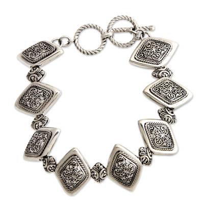 Artisan Jewelry Sterling Silver Link Bracelet