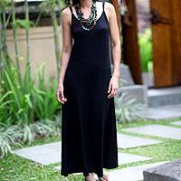 Rayon jersey maxi dress, 'Ubud Chic'
