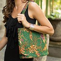 Featured review for Beaded cotton batik tote bag, Princess Art