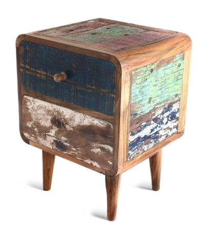 Novica Reclaimed teakwood side table - fair trade furniture