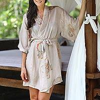 Silk robe, 'Evening Impression' - Women's Handcrafted Silk Robe