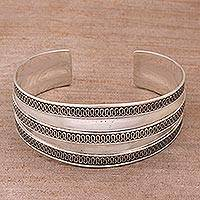 Featured review for Sterling silver cuff bracelet, Balinese Ruffles