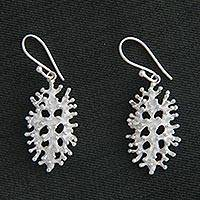 Sterling silver dangle earrings, 'Pemuteran Glory' - Artisan Crafted Indonesian Silver Dangle Earrings
